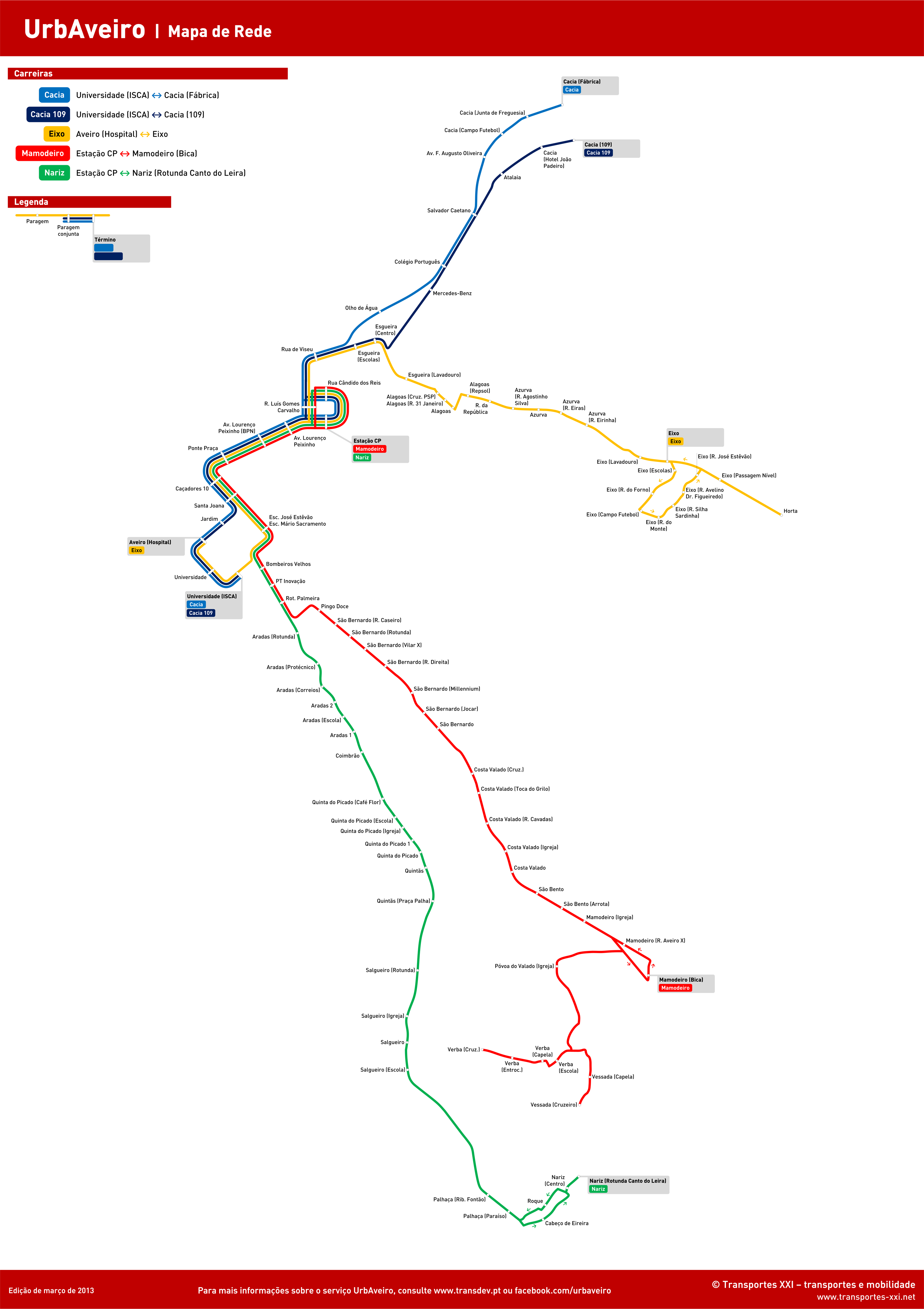 eixo aveiro no mapa Transportes XXI • Portal eixo aveiro no mapa